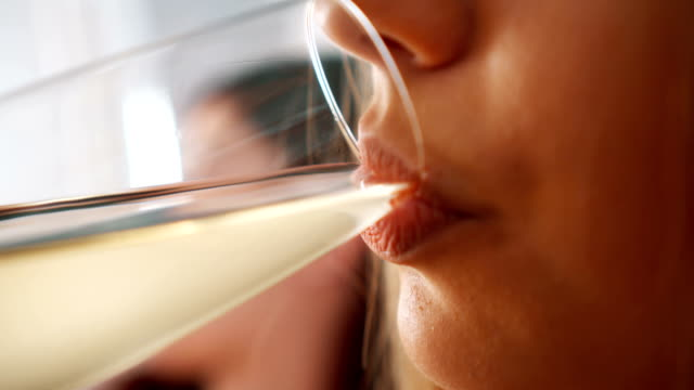 woman drinking wine - champagne stock videos & royalty-free footage