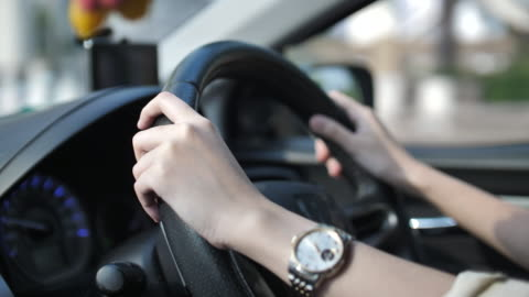 woman driving car - driver stock videos & royalty-free footage