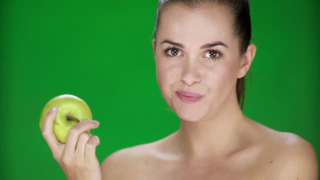 HD: Woman Eating An Apple