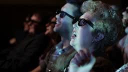 Woman Enjoying 3D Movie