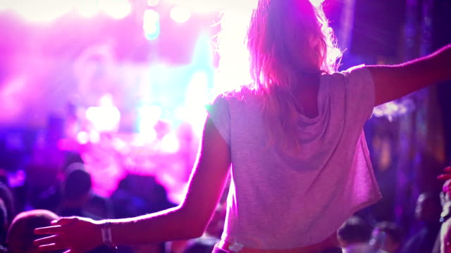 woman enjoying a concert. - musician stock videos & royalty-free footage