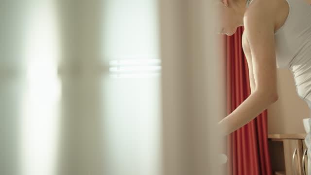 woman enjoying a head massage at a spa - head massage stock videos & royalty-free footage