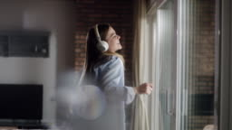 Woman enjoying her favorite music