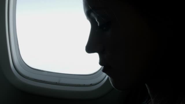 Vrouw genieten van de vlucht