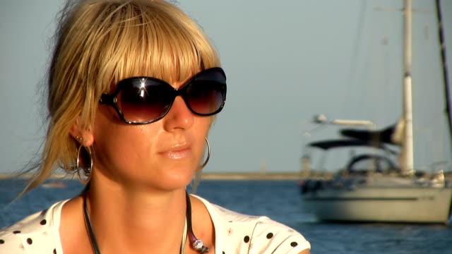HD: Woman Enjoying The Seaside View