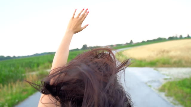 HD SUPER SLOW-MOTION: Woman Enjoying The Wind