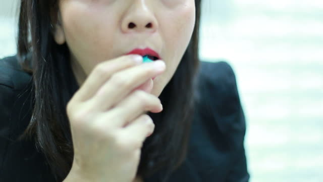 woman enjoying to eat macaroon - macaroon stock videos and b-roll footage