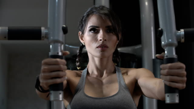 woman exercising arms and back in fitness - human back stock videos & royalty-free footage
