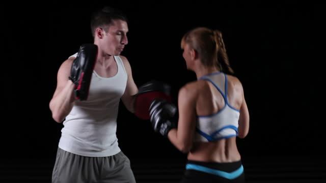 Woman Exercising Boxing
