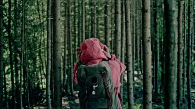 Vrouw wildernis kunt verkennen. Bergachtig landschap