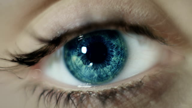 woman eye - blue eyes stock videos and b-roll footage