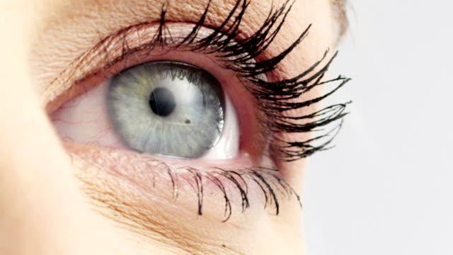 woman eye - eyelash stock videos & royalty-free footage