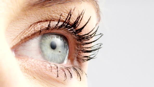 woman eye - retina stock videos & royalty-free footage