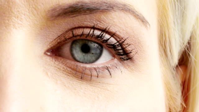 woman eye - cornea stock videos and b-roll footage