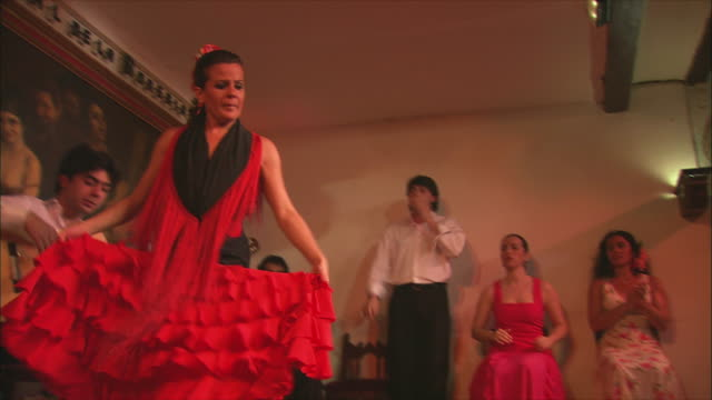 ms la woman flamenco dancing, madrid, spain - flamenco dancing stock videos and b-roll footage