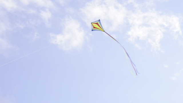 woman flying kite - kite toy stock videos and b-roll footage