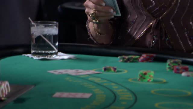 woman gambling - blackjack stock videos and b-roll footage