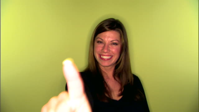 woman gesturing with finger - pointing finger stock videos and b-roll footage
