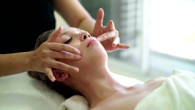 woman getting a body massage - spa treatment stock videos & royalty-free footage