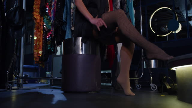 woman getting dressed - tights stock videos & royalty-free footage