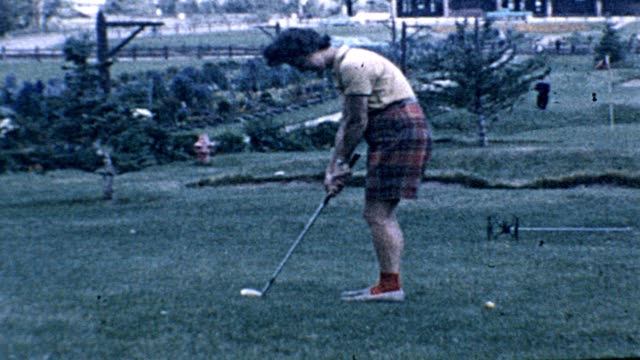 1962 woman golfing - 1962 stock videos & royalty-free footage