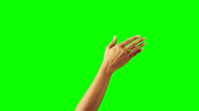 frau hand geste - chroma key stock-videos und b-roll-filmmaterial