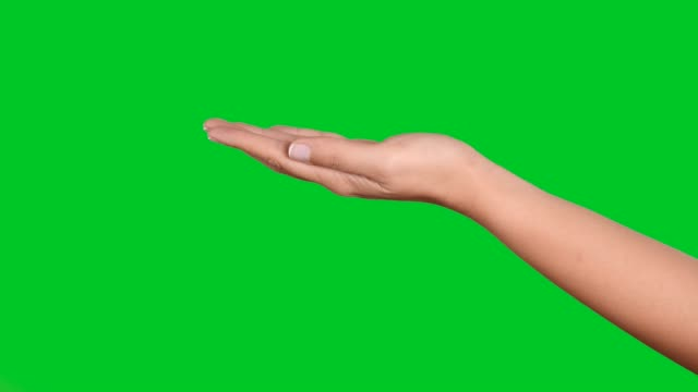 4k woman hand  gestures on green screen - pointing stock videos & royalty-free footage