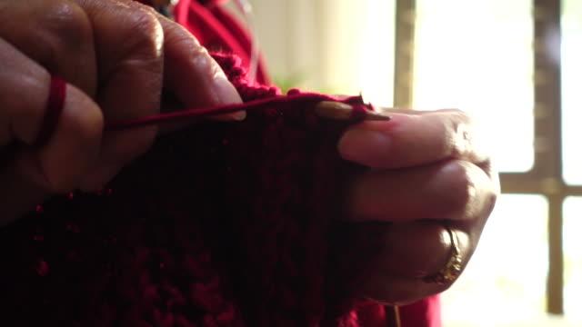 woman hand Knitting