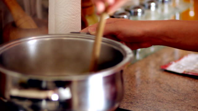 woman hand stirring soup - stirring stock videos & royalty-free footage