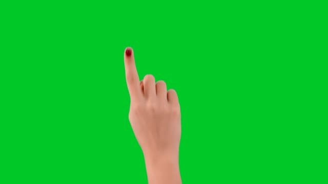 woman hand tapping on chroma key background - index finger stock videos & royalty-free footage