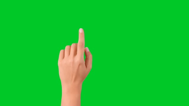 4k woman hand touchscreen gestures on green screen - computer mouse stock videos & royalty-free footage