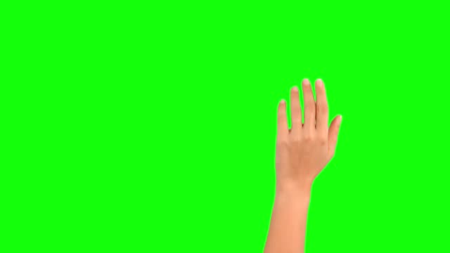 vídeos de stock e filmes b-roll de 4k woman hand touchscreen gestures on green screen - seguir atividade móvel