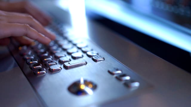 woman hand typing on metallic keyboard in the future technology - mack2happy stock videos and b-roll footage
