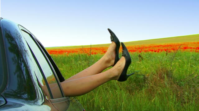 woman hanging out legs - grass family stock videos & royalty-free footage
