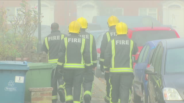 a woman has died following a suspected gas explosion at a flat in northwest londonthe victim was found be firefighters who also rescued three other... - northwest england stock videos and b-roll footage