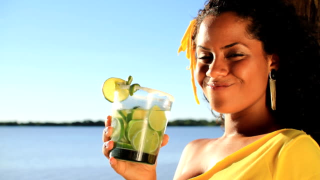 woman having a drink - cachaça stock videos & royalty-free footage