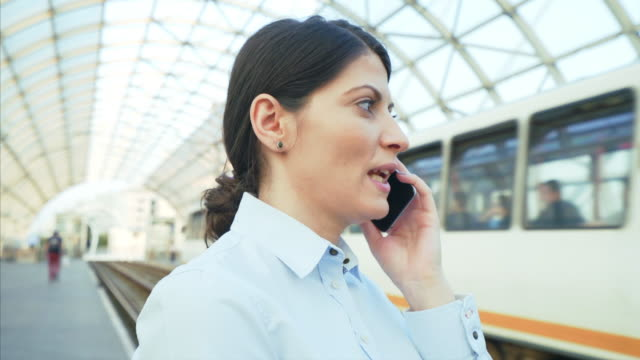 Woman having a phone call.