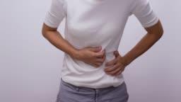 Woman having a stomachache