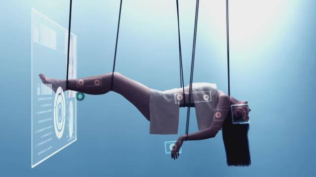 WS Woman having an advanced medical body scan / Melbourne, Victoria, Australia