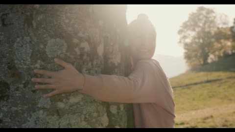 woman hugging tree - baum stock-videos und b-roll-filmmaterial