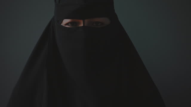 woman in black clothing hijab - shi'ite islam stock videos & royalty-free footage