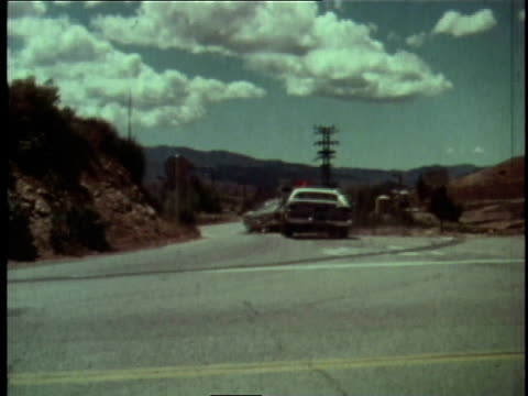 1978 montage woman in car being chased by patrol car / los angeles county, california, united states - 1978 stock videos and b-roll footage