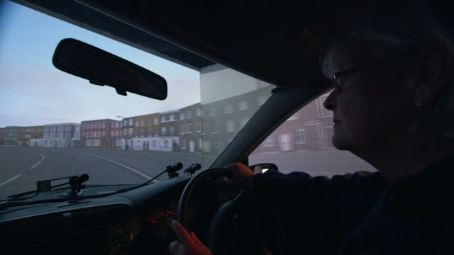 ms woman in car driving simulator / london, england, united kingdom - learning to drive stock videos & royalty-free footage