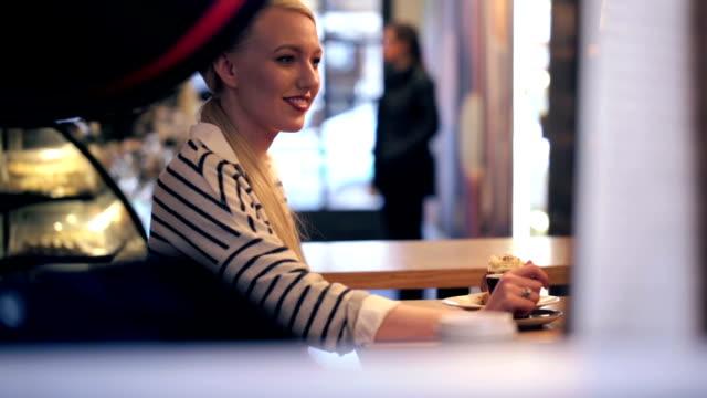 Woman in coffeeshop