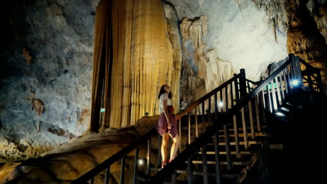 woman in phong nha caves - field trip stock videos & royalty-free footage