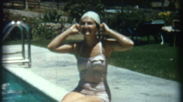 Woman In Pool 1950's