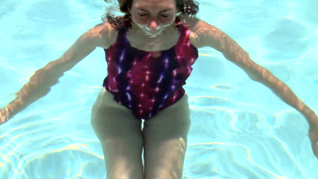 woman in pool - swimming costume stock videos and b-roll footage
