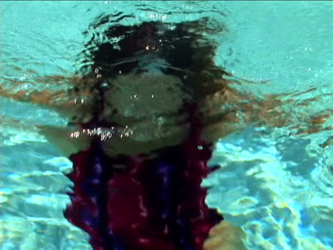 woman in pool - emergence stock videos & royalty-free footage