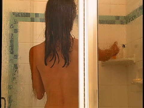 woman in shower - washing hair stock videos & royalty-free footage