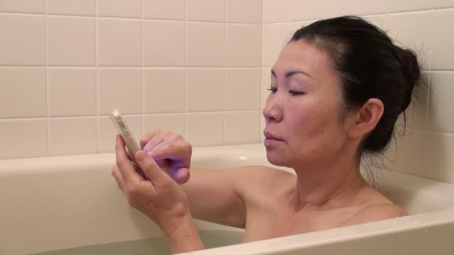Woman in the bath tub